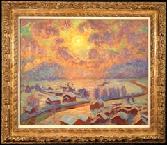 Winter Sun - Gstaad - Impressionist Oil, Winter Landscape, William Samuel Horton