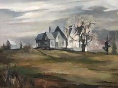 """Colorado Landscape,"" Western Precisionist Regionalism American Scene Painting"