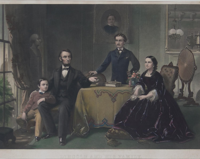 Lincoln and His Family, Philadalphia 1866
