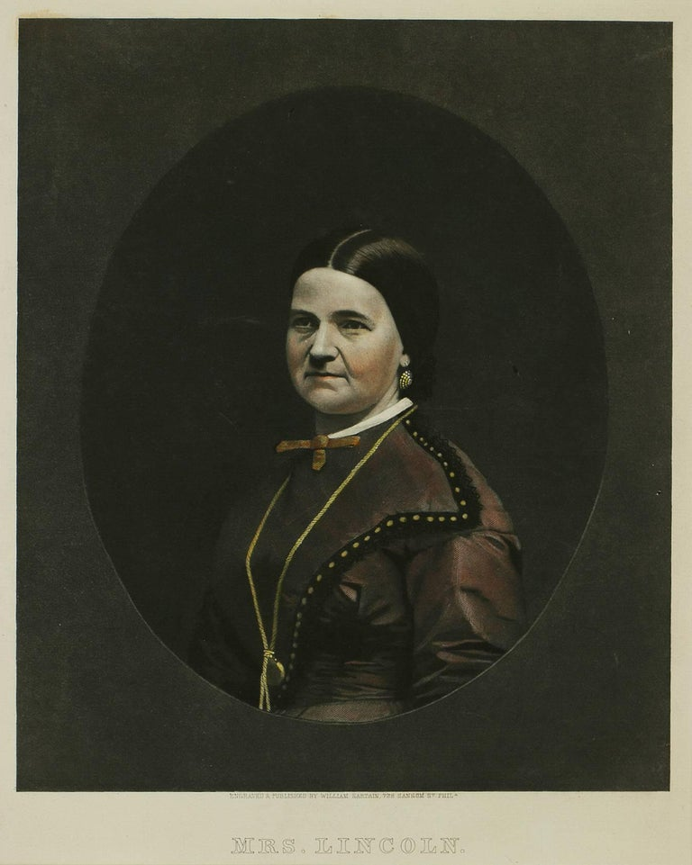 Portrait of Mrs. Lincoln - Print by William Sartain