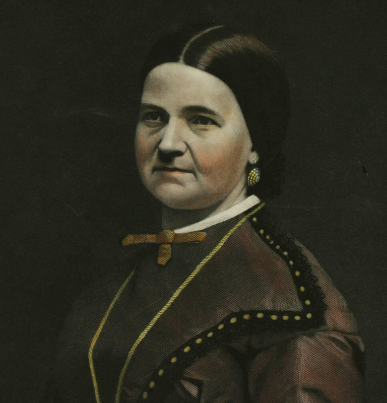 Portrait of Mrs. Lincoln - American Realist Print by William Sartain