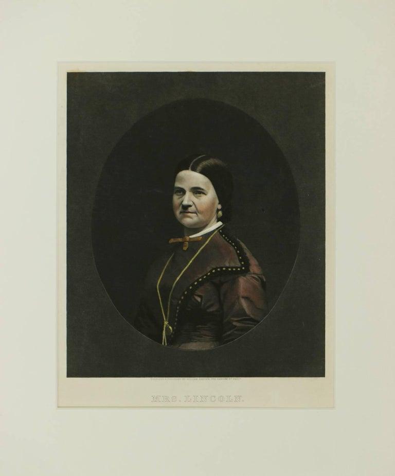 William Sartain Portrait Print - Portrait of Mrs. Lincoln