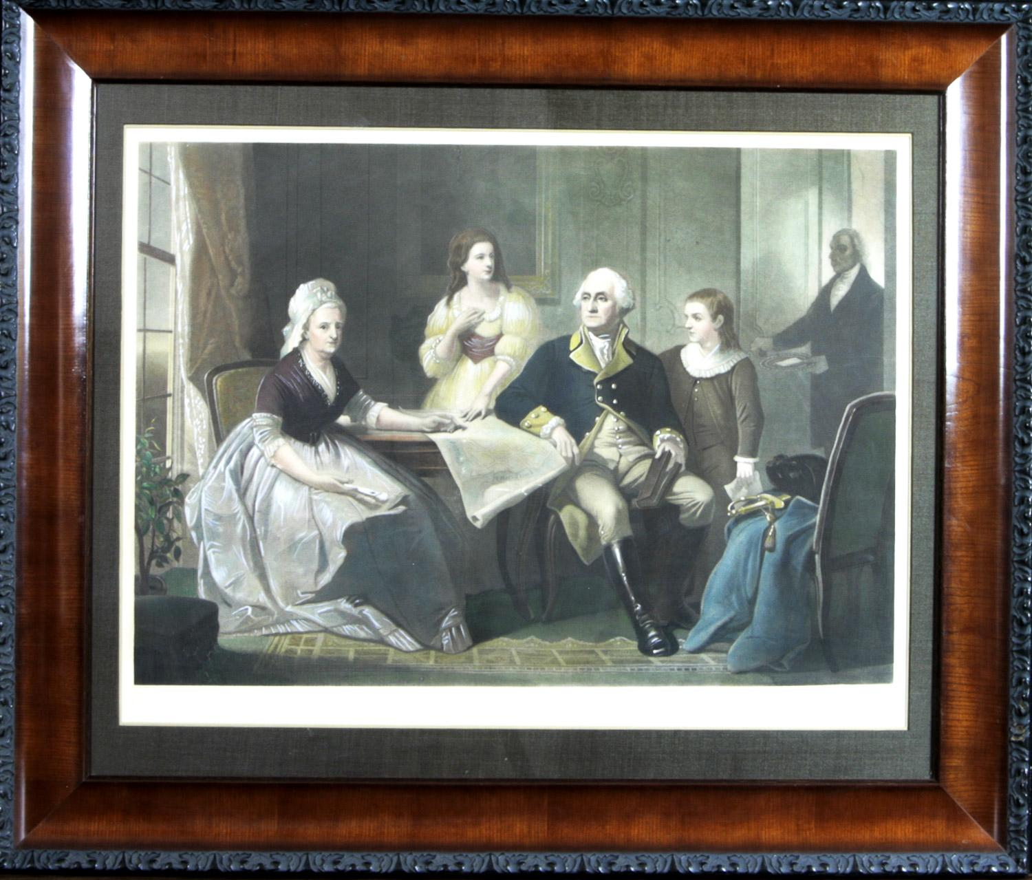 Washington and His Family by William Sartain 1884 framed