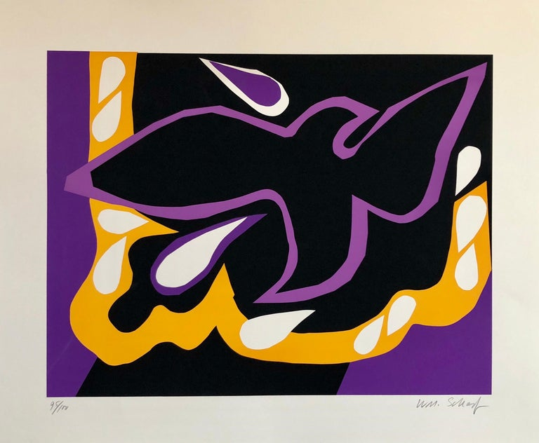 Bright Vibrant Pop Art Silkscreen NYC Abstract Expressionist - Print by William Scharf