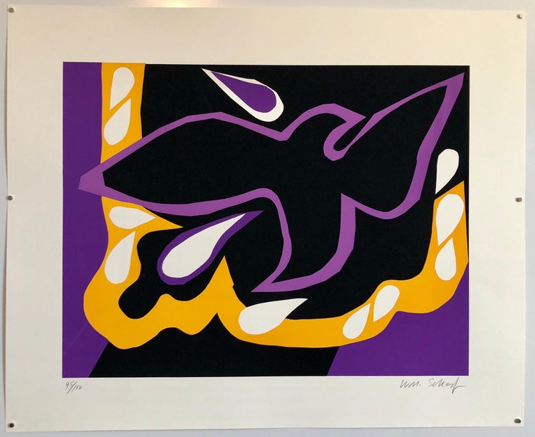 Bright Vibrant Pop Art Silkscreen NYC Abstract Expressionist For Sale 1
