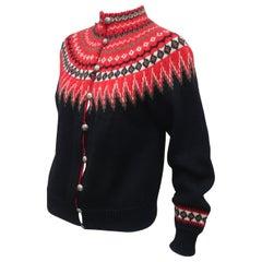 William Schmidt Norwegian Fair Isle Style Sweater, C.1950