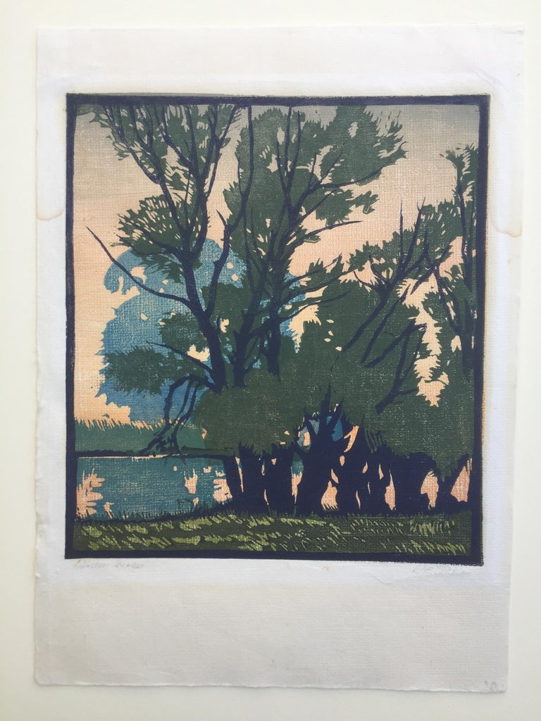 Willow Border - Print by William Seltzer Rice