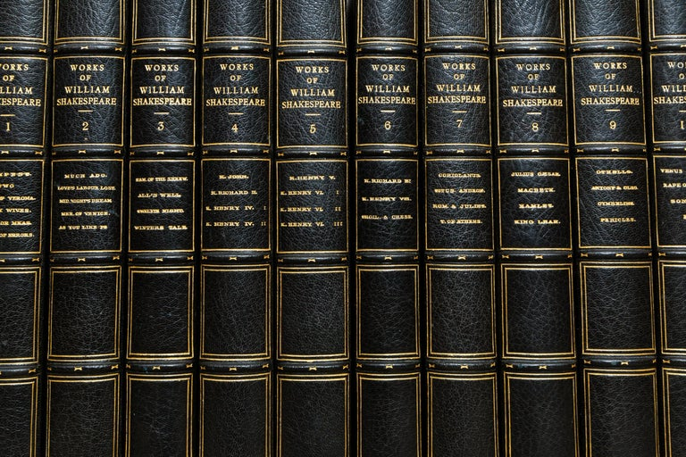 10 Volumes  Edited by W.E. Henley. Limited to 1000 copies, This is Copy #835, Signed by the Publisher.  Bound in 3/4 Blue Morocco, Top Edges Gilt, Raised Bands, Blue Cloth Boards, Marbled Endpapers, Gilt Panels. In Cloth Slipcases  Published,