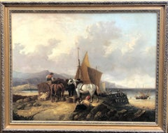 Oil painting Landscape Beach Scene attributed to William Shayer