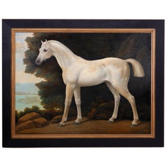 William Skilling Oil Painting on Canvas of a Show Horse