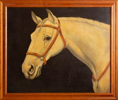 Linus the Horse, Realist Oil Painting by William Skilling