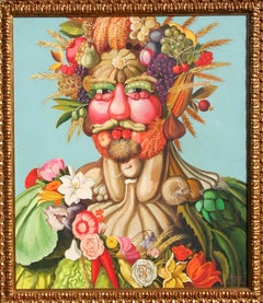 Vertumnus, Oil Painting by William Skilling, After Giuseppe Arcimboldo