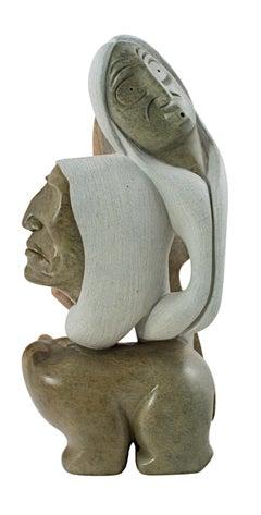 """Eagle, Chief, Bear, Wind,"" original Native American sculpture by William Skye"