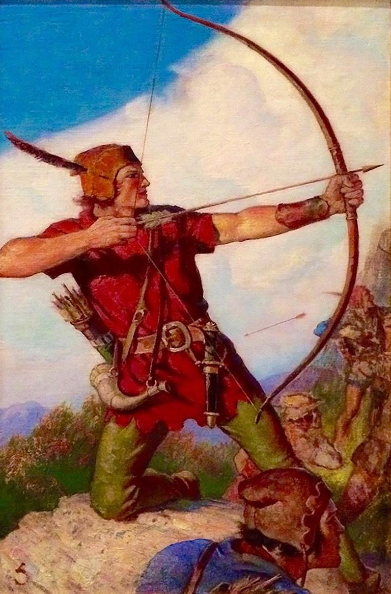 William Soare Figurative Painting - Robin Hood
