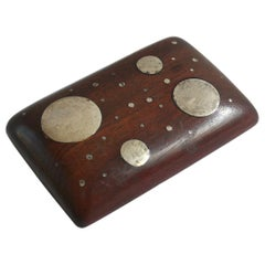 William Spratling Modernist Belt Buckle Sterling Silver in Mahogany Mexico 1960s