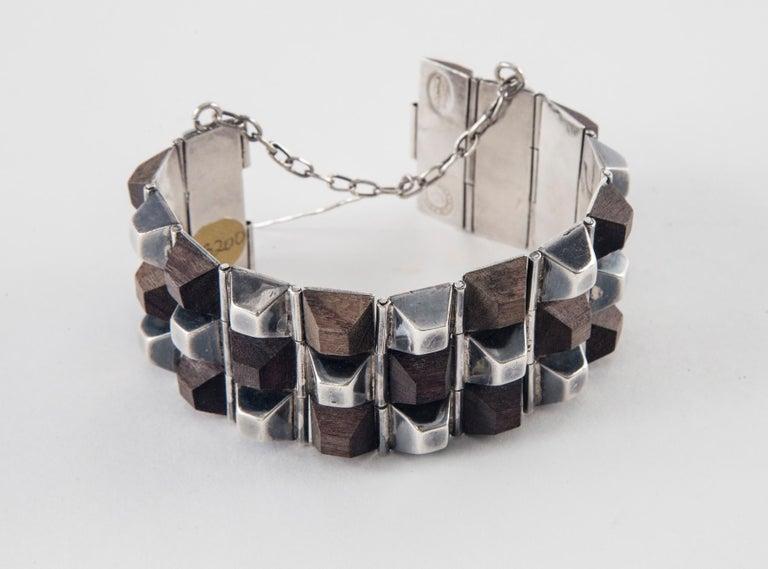 William Spratling Taxco Sterling Silver and Ebony Bracelet, 1940 7