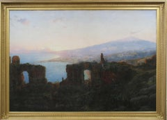 William Stanley Haseltine, Mt. Aetna from Taormina, Oil on Canvas, ca. 1876