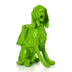 Cloned blue Bloodhound with Backpack (green)