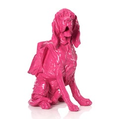 Cloned Bloodhound with Backpack (pink)