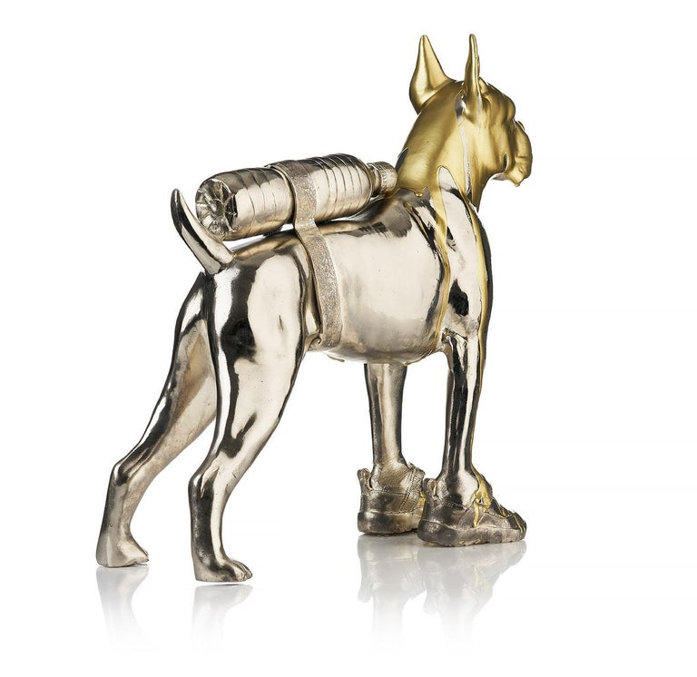 Signed/Numbered 3/8 ex. Silver plated bronze. Acquired directly from the artist. Free shipment worldwide.  William Sweetlove, born in Ostend, Belgium, in 1949, unites dadaism with surrealism and pop art in humoristic sculptures that at first sight