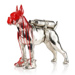 Cloned Bulldog with pet bottle (red)