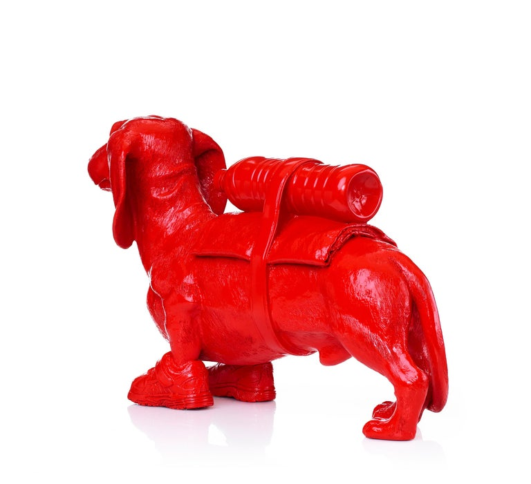 Cloned Dachshund with pet bottle.  For Sale 2