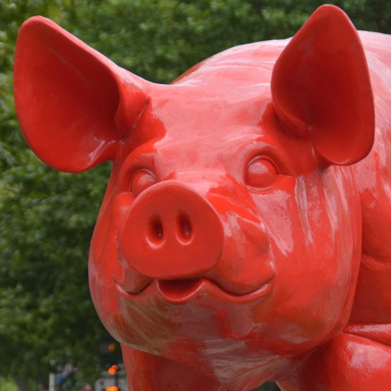 Cloned giant Pig - Pop Art Sculpture by William Sweetlove