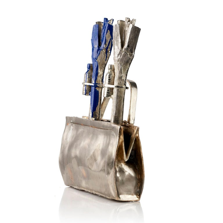 Cloned handbag with vegetables. - Sculpture by William Sweetlove