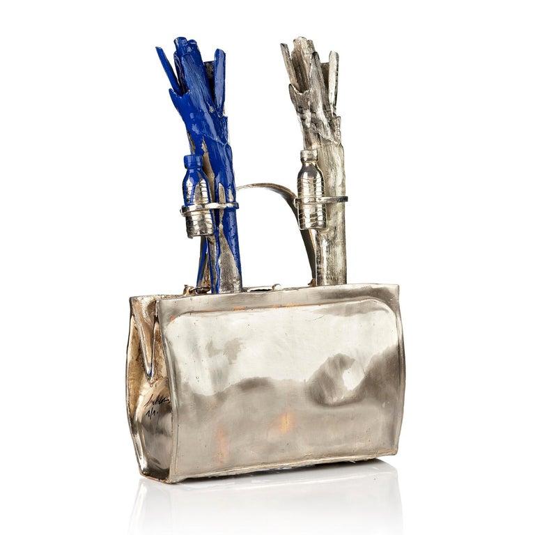 Cloned handbag with vegetables. - Pop Art Sculpture by William Sweetlove