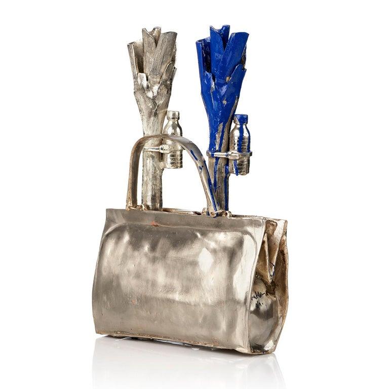 William Sweetlove Figurative Sculpture - Cloned handbag with vegetables.
