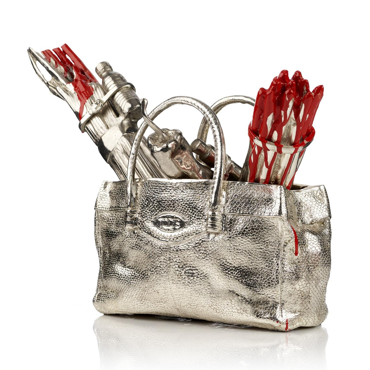 Cloned handbag with vegetables