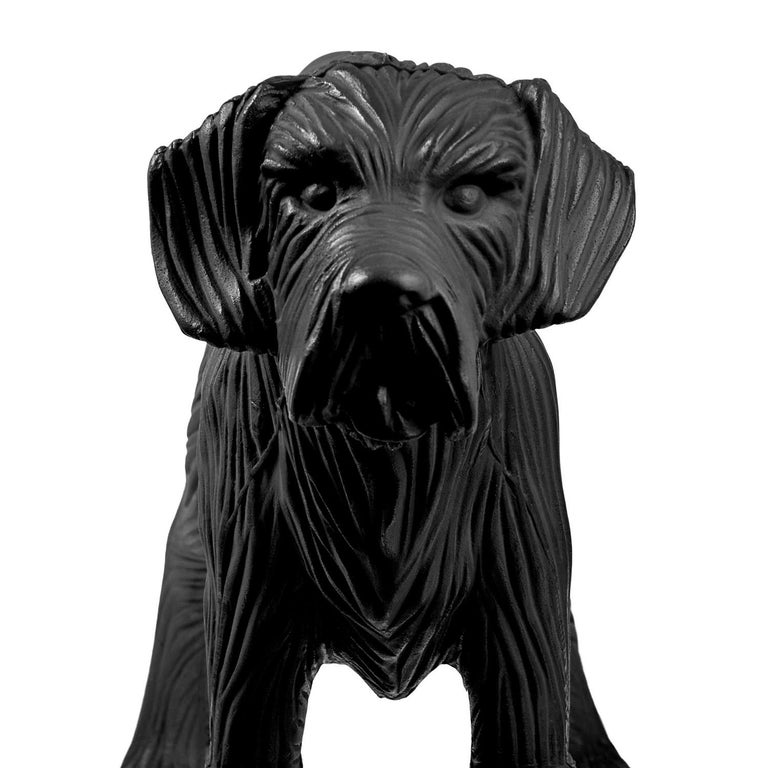 Cloned Schnauzer with water bottle  - Pop Art Sculpture by William Sweetlove