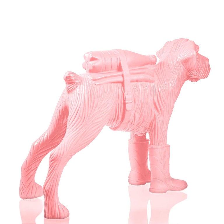 Cloned Schnauzer with water bottle  - Pop Art Sculpture by William Sweetlove