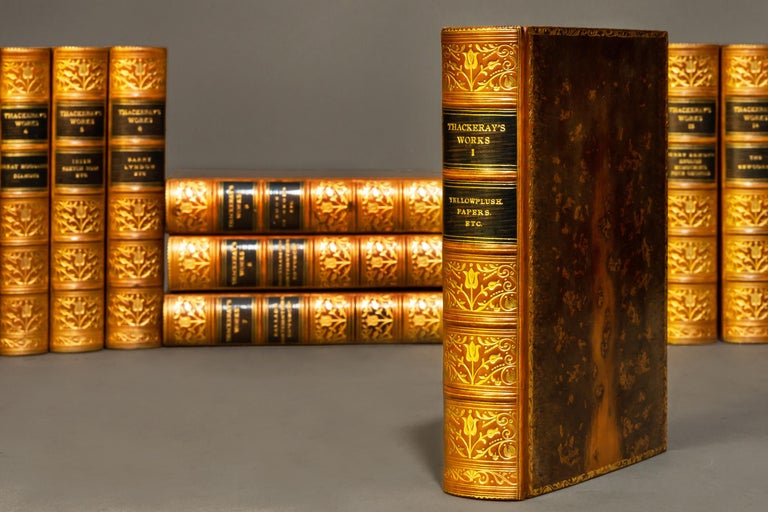 17 Volumes  Edited with an introduction by George Saintsbury with 64 illustrations.   Bound in full tree calf levant, marbled edges, raised bands, Ornate floral gilt on spines.   Published: London & New York: Henry Frowde N.D. circa