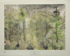 """""""September Woods"""" by William Thon. Litho Print New York Graphic Society, 1979."""