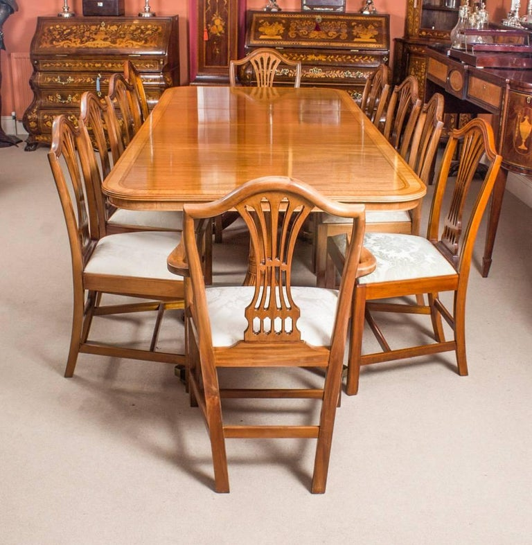 This Is A Fabulous Vintage Dining Set Which Comprises Regency Style Table And Ten