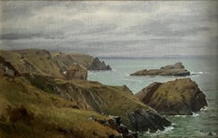 """Cornish Coast, England,"" William Trost Richards, Hudson River School, Seascape"
