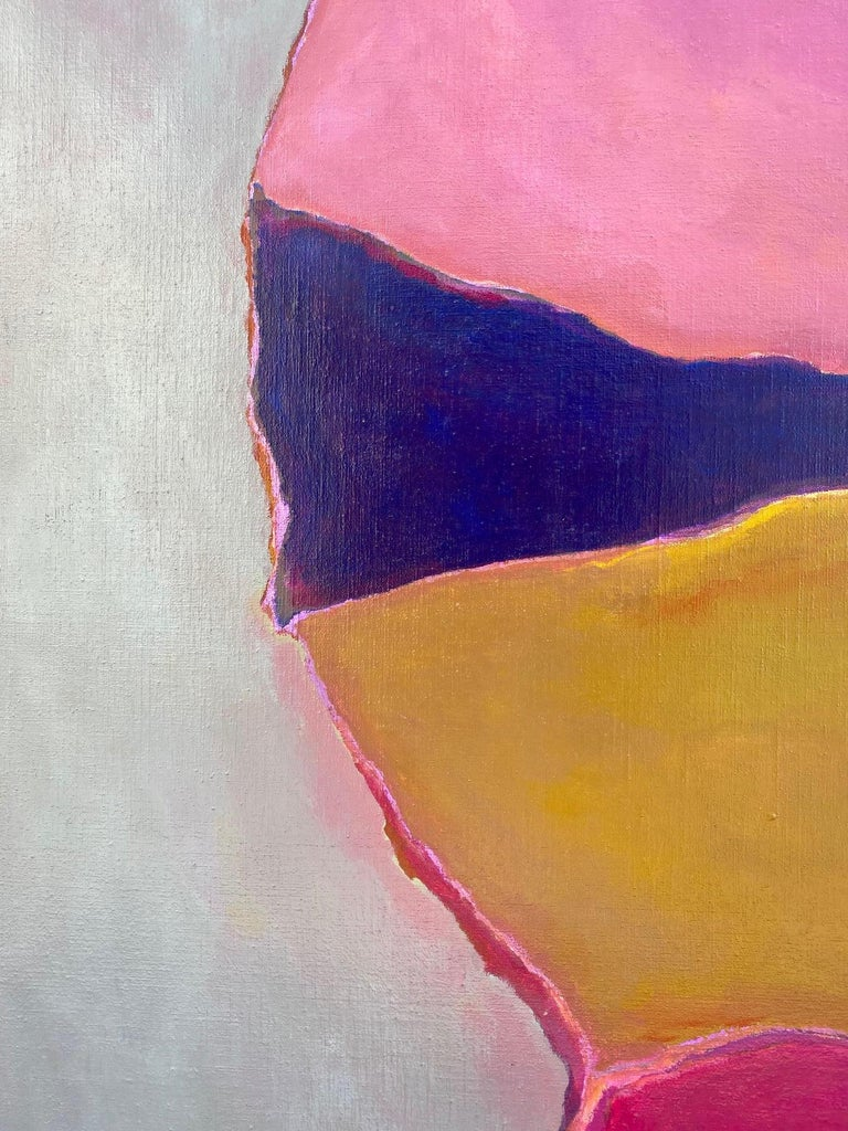 Vintage abstract painting by Arizona artist and architect William Tull. Signed and dated 1981. Acrylic on Canvas.