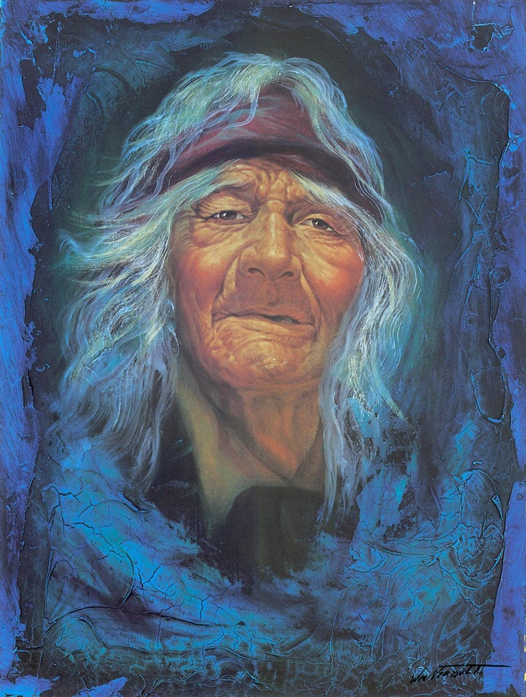 """""""The Apache,"""" a Limited Edition and Hand-Signed Lithograph by William Verdult, The Dutchmaster, is an exquisite example of his masterful work. Verdult's genius reflects a fiery artistic approach that inspires unexplored feelings within the"""