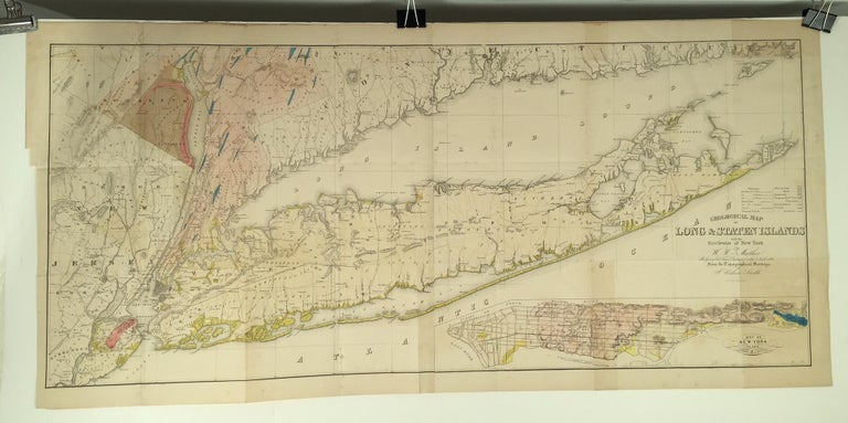 Map Of New York For Sale.Geological Map Of Long Staten Islands With The Environs Of New York