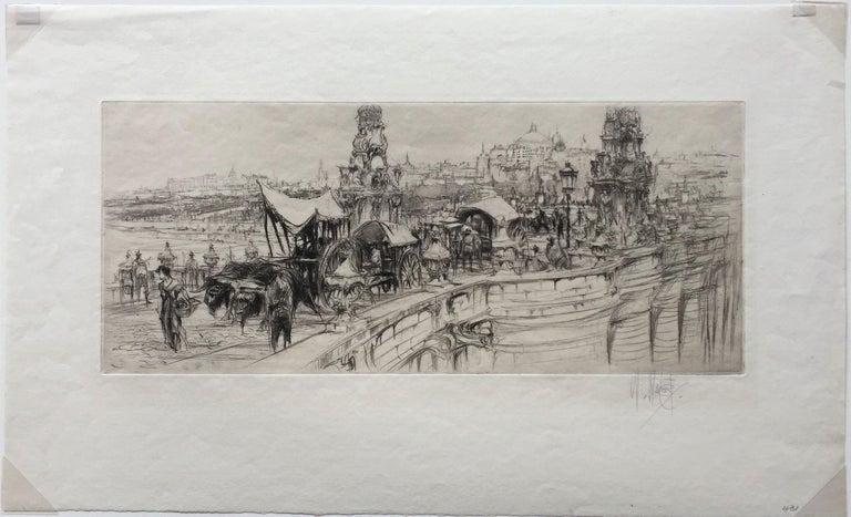 Segovia Bridge, Madrid. - Print by William Walcot, R.E., Hon.R.I.B.A.