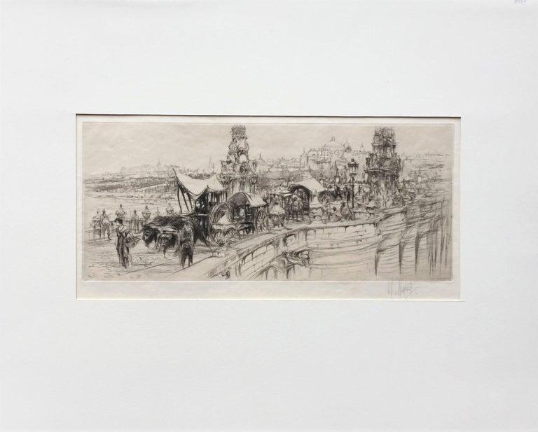 Segovia Bridge, Madrid. - Gray Landscape Print by William Walcot, R.E., Hon.R.I.B.A.