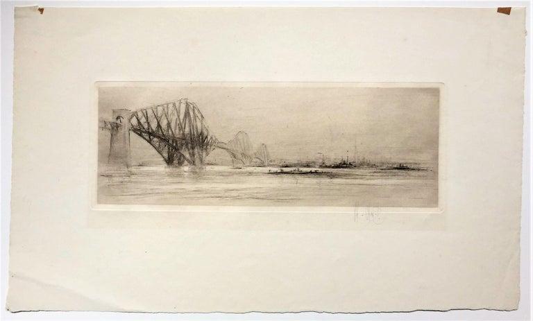 The Forth Bridge - Print by William Walcot, R.E., Hon.R.I.B.A.