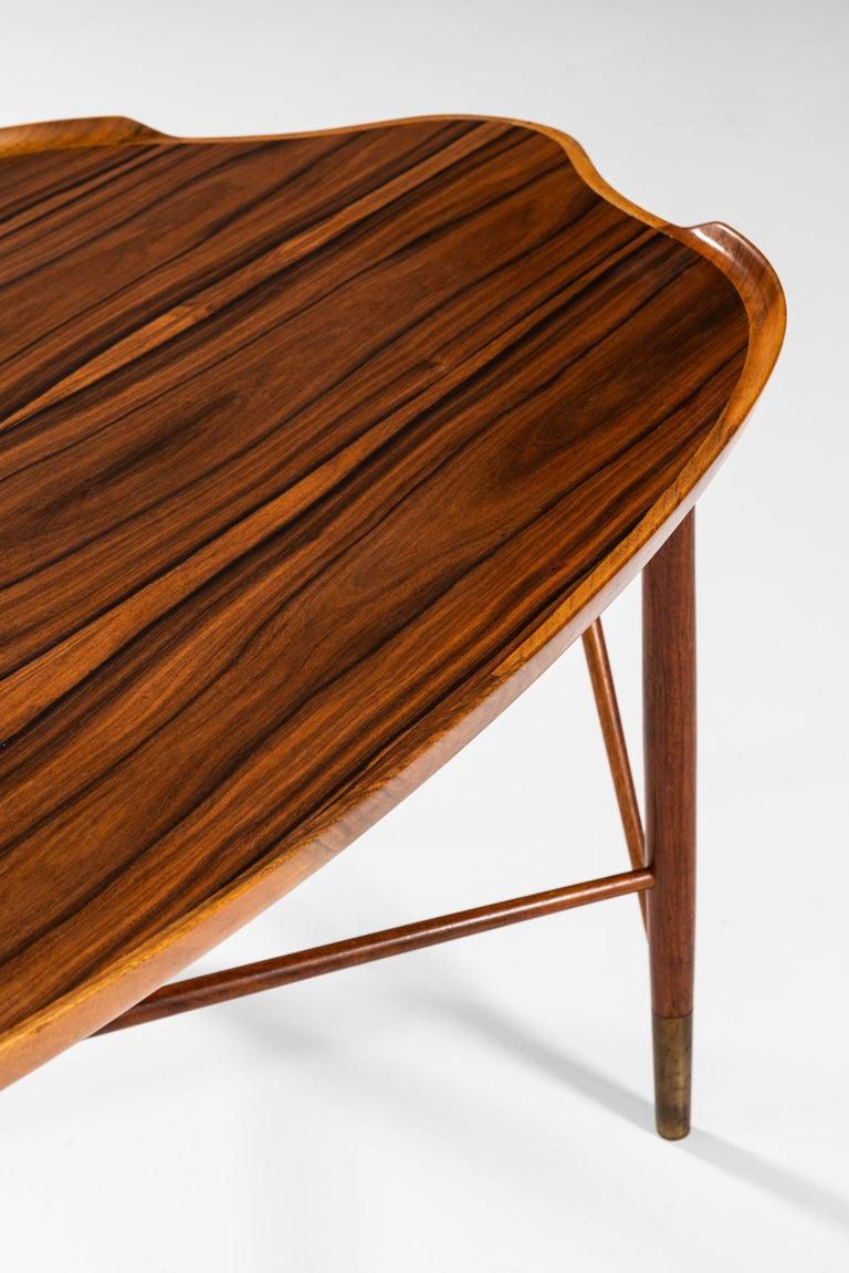 Brass William Watting Coffee Table Produced by Cabinetmaker Michael Laursen in Denmark For Sale
