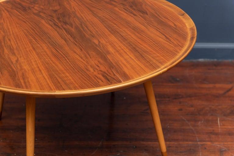 Scandinavian Modern William Watting Round Danish Coffee Table For Sale