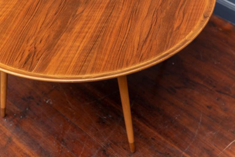 Teak William Watting Round Danish Coffee Table For Sale