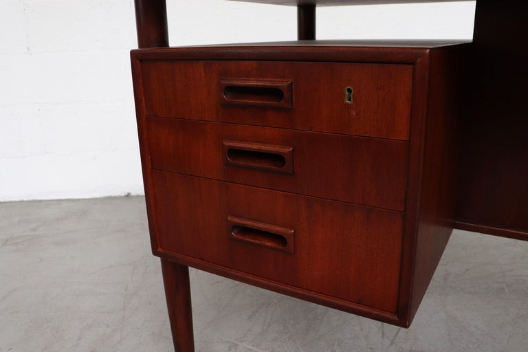 William Watting Style Floating Top Desk For Sale 5