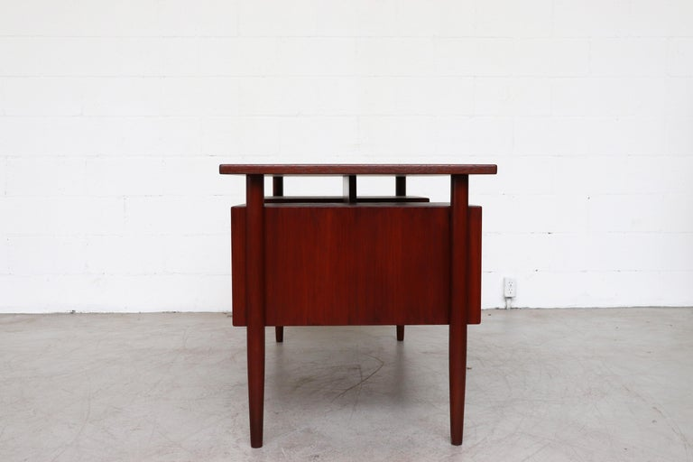 Mid-Century Modern William Watting Style Floating Top Desk For Sale