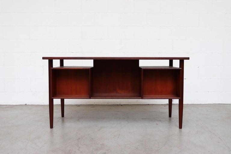 William Watting Style Floating Top Desk In Good Condition For Sale In Los Angeles, CA