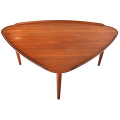 William Watting Triangular Teak Midcentury Danish Modern Coffee Table